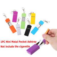 Portable Mini Metal Pocket Ashtray Windproof Cases with Key-chain Ou RAS