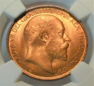 1903 Great Britain Half Penny NGC MS 66 RD Finest Known Top Population  (217)