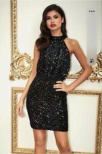 Lipsy Sequin Halterneck Dress Size 12