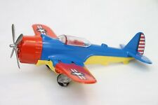 "1960's Hubley Airplane Navy Fighter Bomber ""American Eagle"" 495 in Blue/Red/Yw"