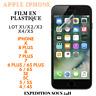 Film Plastique Protection Ecran pour Apple iPhone XS/XR/8+/8/7+/7/6+/6/SE/5/