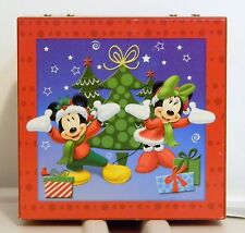 "DISNEY CHRISTMAS MICKEY & MINNIE MUSIC BOX ""JINGLE BELLS"" NEW WITH TAG"