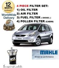 FOR FORD GALAXY 1.8TDCi 4/2006-> SERVICE KIT OIL AIR FUEL POLLEN FILTER KIT