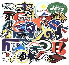 33 NFL Teams Logo Decal Vinyl Stickers for Truck/Skateboard/Luggage/Laptop/Party
