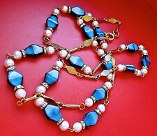 WOW! Vintage Fine Quality Runway Designer Cabochon Crystal Pearl Choker NECKLACE