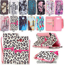 Flip Cover Card Wallet Leather Stand Book Case Pouch w/Strap For Smartcellphones