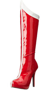 Ellie Wonder Woman 517 Comet Red And white Super Hero Boots Sz 8 M US Costume