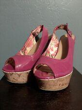 Candie's Hot Pink Wedge Heels 7M