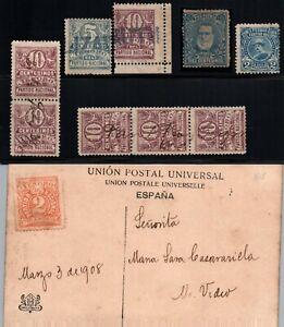Revolutionary Patriotic contribution Uruguay lot of cinderella poster stamp card