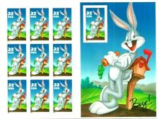 U.S. Stamps Scott 3138, Bugs Bunny imperforate SHEET OF 10 (DIE CUT). cv 290.00