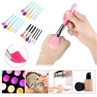 1 / 6pcs Brochas Pincel Silicona Maquillaje Facial Máscara Cepillos Cosméticos