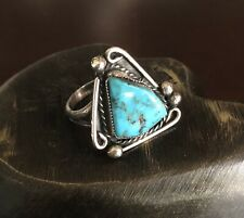 Vintage Navajo Turquoise Sterling Silver Ring