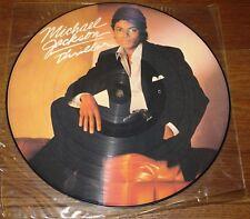 MICHAEL JACKSON ~ THRILLER ~ UK LP PICTURE DISC WITH ORIGINAL PVC SLEEVE