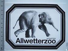 Aufkleber Sticker Münster - Allwetterzoo - Elefant (5564)