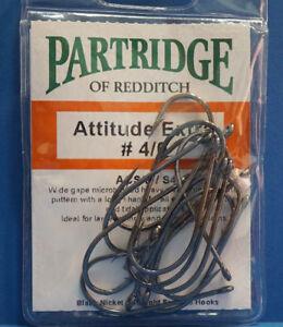 Partridge ATTITUDE EXTRA  #4/0 ACS/E/S4 black nickel 15 Haken Gr. #4/0
