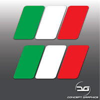 2x Large Italian Flag Italy Stripe Car Window Bumper Euro Vinyl Decal Stickers