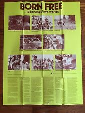 Born Free Movie Discussion Poster, Elsa the Lioness, 1974 Joy George Adamson