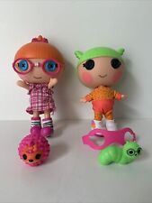 More details for lalaloopsy littles - specs reads-a-lot & tiny might 8in dolls (450)