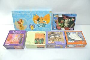 Lot of (6) NEW Assorted Jigsaw Puzzles 100, 500 & 750 pieces
