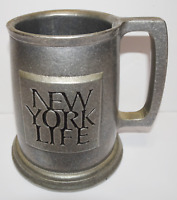 Vintage Carson Freeport PA Tankard Cup Pewter Beer Mug New York Life