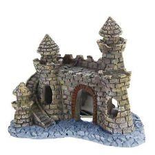 Vintage Resin Tower Castle Cave Aquarium Ornament Fish Tank Decor Accessories