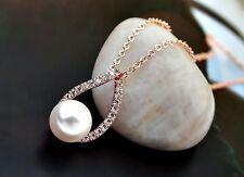 Modeschmuck-Halsketten & -Anhänger aus Edelstahl mit Perle für Damen