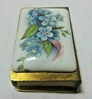 Vintage Match Box Holder Painted Porcelain MW Reutter Matchbook West Germany