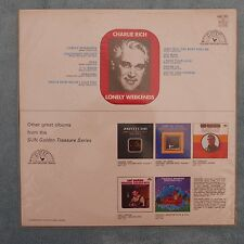 """Charlie Rich - Lonely Weekends, 1969, 12"""" LP, SUN 6467 003, Promo Copy"""