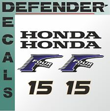 Honda 15 hp Four Stroke outboard engine decal sticker set kit reproduction 15HP