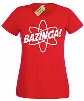 Womens Bazinga Particle T Shirt atom big bang gift science ladies