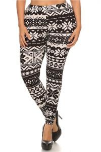 Femmes Grande Taille Imprimé Leggings - Taille Unique