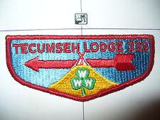 OA Tecumseh Lodge 332,S-1c, 1960s,GRN Clover Flap,88,203,206,315,373,Michigan,MI