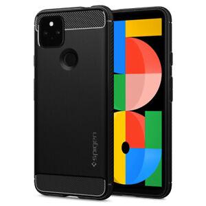 For Google Pixel 5a 5G Case   Spigen [ Rugged Armor ] Protective Black Cover