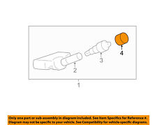 GM OEM TPMS Tire Pressure Monitor-Valve Stem Cap 25858636