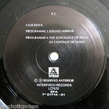 "Clock DVA – Sound Mirror??? 7"" PROMO interfisch Records – 01714-01?"