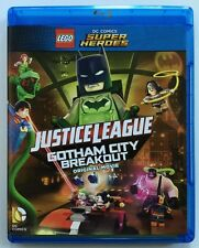 LEGO DC COMICS JUSTICE LEAGUE GOTHAM CITY BREAKOUT BLU RAY DVD 2 DISC SET BATMAN