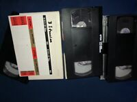 Lot Of 3 VHS Tapes PreRecorded MOVIE TV Content Sold As Used Blank 3 Stooge 1993