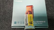 Canon PowerShot Digital ORANGE SD1400 IS / 14.1MP HD Digital Camera Original Box