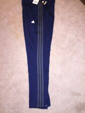 NWT ADIDAS Men's Trico Zip Pant, #CE2672 CONAVY, Blue & Gray 3 Stripe, Small