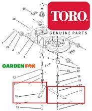 Genuine TORO DH190 DH210 DH220 COPPIA LH/RH LAME 1x 106-8557 1x 106-8558