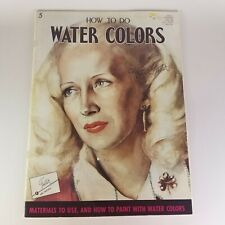 Vintage Walter Foster # 5 How to Do Water Colors Instructional Art Book