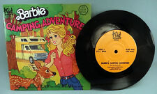 Vintage 1981 Barbie Camping Adventure book & record set GREAT SHAPE