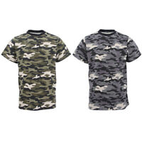 Men's Short Sleeve Military Army Camo Camouflage Tactical Print Tee T Shirt Tops
