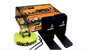 Slackers Slackline Kit 12-foot Slackline Kids Balance Training Activity Set