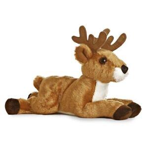 Deer Aurora Plush Stuffed Animal Toy Cute Cuddly Antlers 8 Inches Woodland