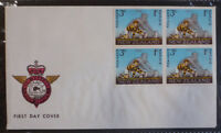 1967 NEW ZEALAND HEALTH RUGBY FOOTBALL BLK 4 3c + 1c STAMPS ON COVER