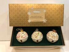 Hallmark Keepsake Ornament Club 30th Anniversary Porcelain Bells 3 Piece Set