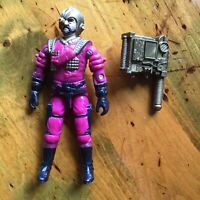 "GI JOE Vintage 3.75"" arah VOLTAR V1 1988 figure & Back Pack"