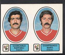 PANINI CALCIATORI FOOTBALL Adesivo 1977-78, N. 485, RIMINI-Giancarlo RAFFAELI