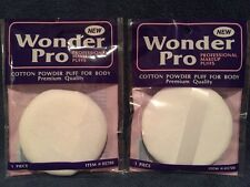 """Lot 2 Powder Puff For Body  With Ribbon Handle,3.5"""", Brand New,(not Fluffy)"""